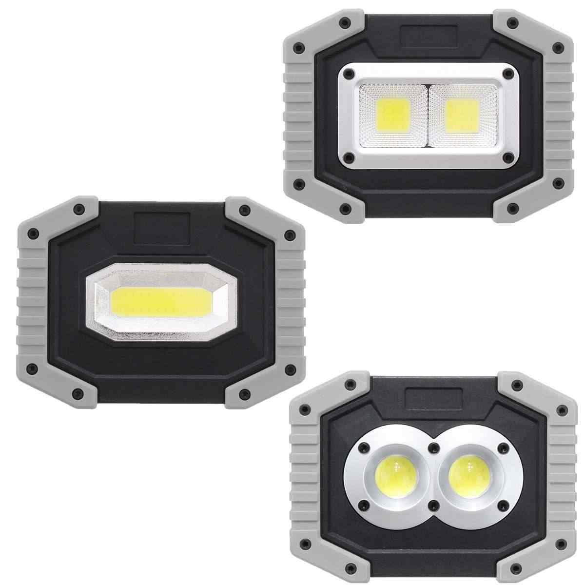 CLAITE 30W USB LED Portable Spotlight COB Outdoor 3 Modes Work Light Camping Emergency Lantern Flashlight Spotlight Searchlight