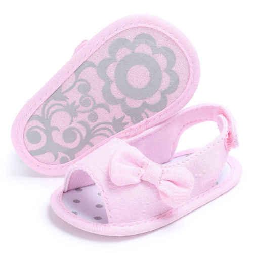 2019 Gloednieuwe Pasgeboren Peuter Baby Baby Schoen Kids Meisje Jongens Zomer Zachte Zool Boog Sandaal Schoenen Groothandel 0- 18 m
