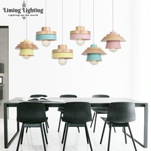цены на  Nordic minimalist modern restaurant chandelier lamp three LED head wood meal hanging bar study single head wooden lamp  в интернет-магазинах