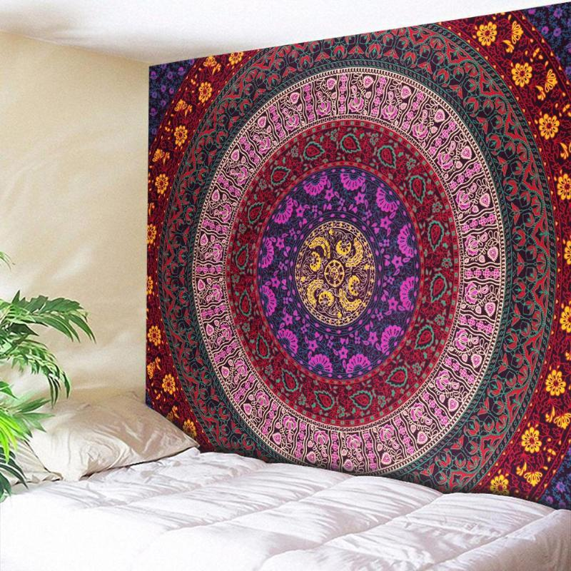 Wall Hanging Tapestry Indian Mandala Throw Rug Blanket Camping Tent Travel Mattress Bohemian Sleeping Pad Tapestry