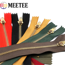 10pcs Meetee 3# Metal Zipper 13cm/15cm/18cm  Auto Lock for DIY Sewing Zip Garment Accessories Jeans Bag Zippers A4-17