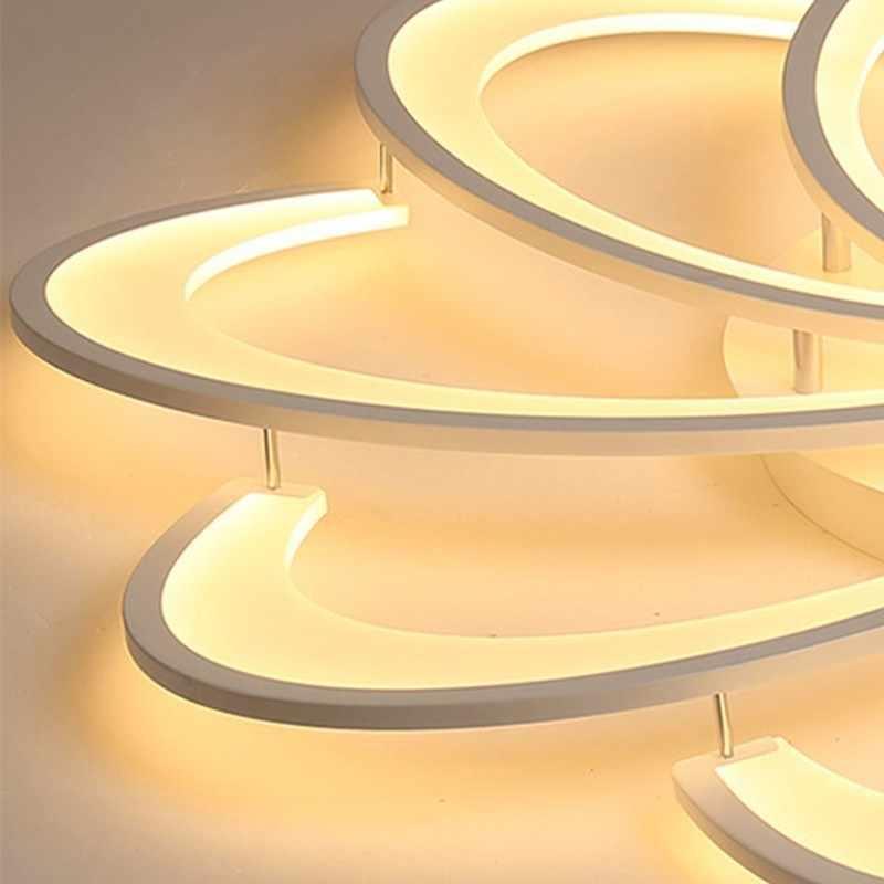 Современные светодиодный белый Потолочный светильник с дистанционным Управление для Гостиная домашнего освещения Кухня светильники Спальня плафонная лампа Блеск