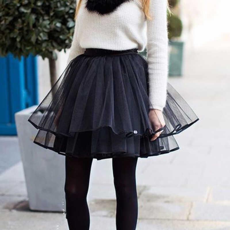 894d7e1450 Ballet de tul falda Tutu Mujer Faldas boda FIESTA DE Bouffant Skirt negro  de malla vestido