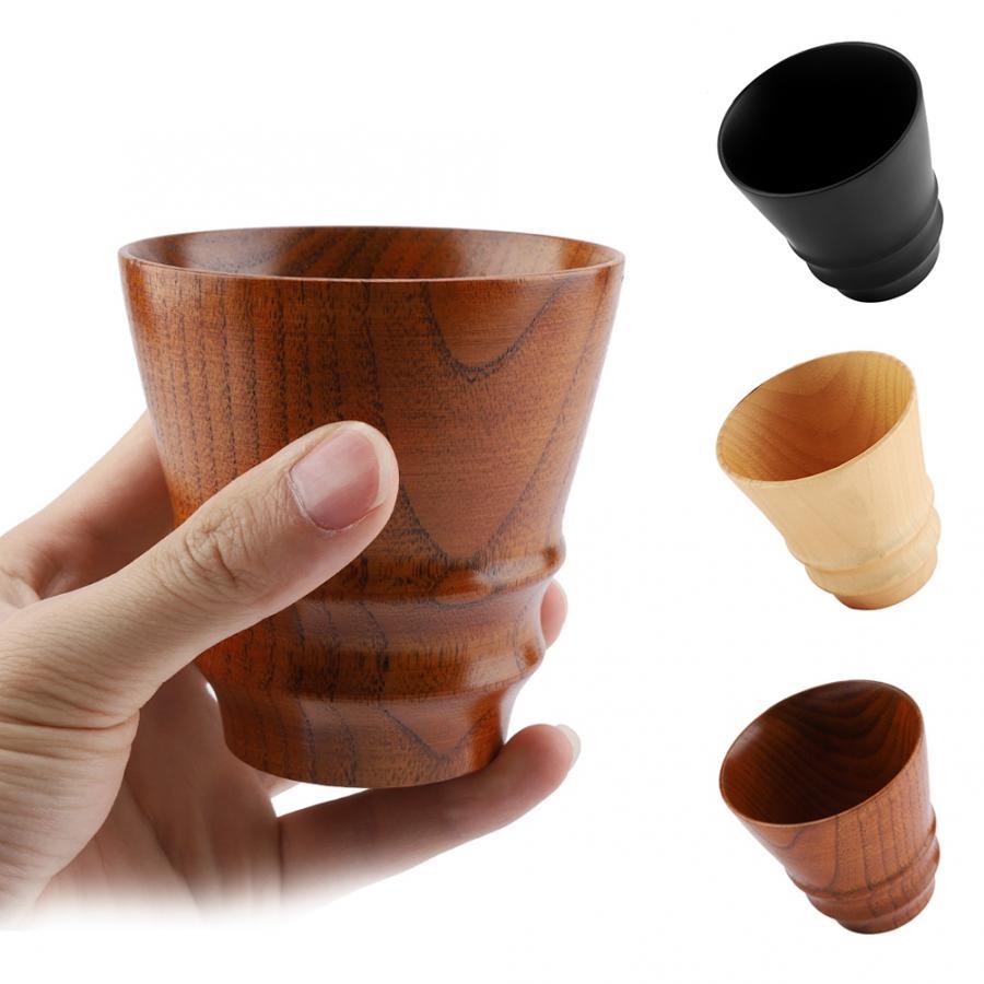 200ml Wood Cup Portable Drinking Tea Milk Water Mug Wooden Coffee Cups #2