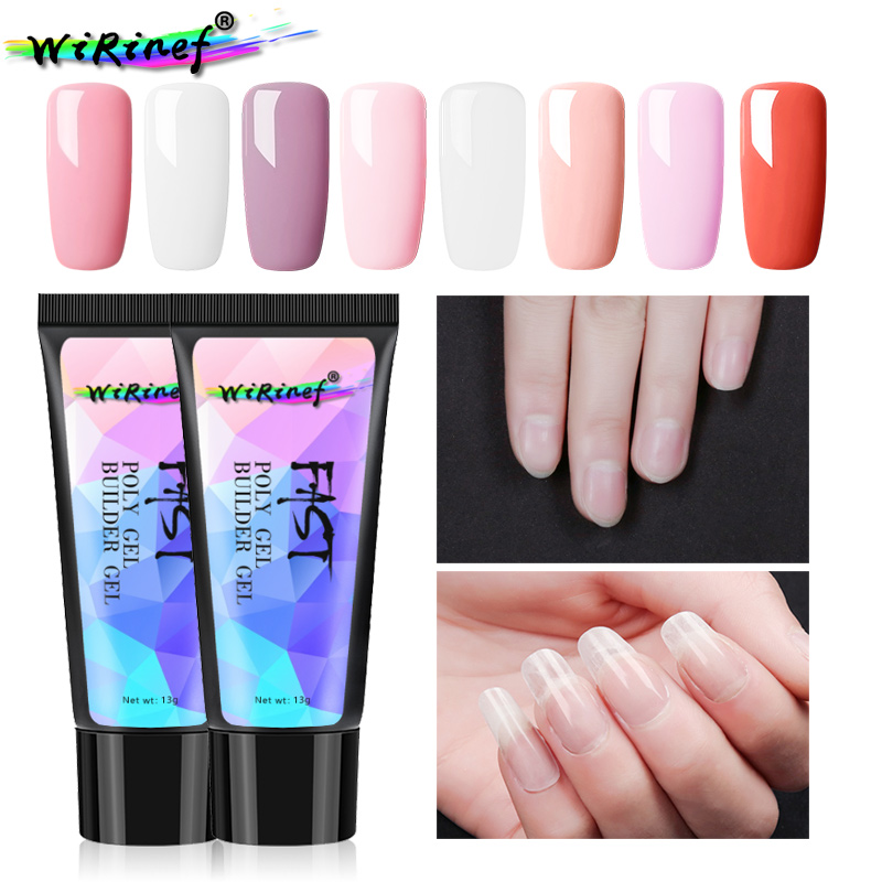 Nail Gel Adaptable Wirinef New Arrival Poly Gel Uv Fast Builder Gel Nail Makeup Brush Tools Nail Lacquer Glue Extend Nails Polish Gel Top Watermelons