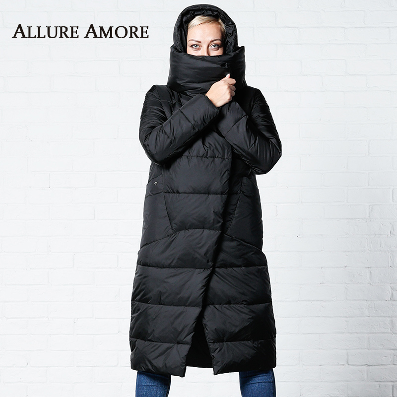 Winter Jackets Women Coats Windproof High Collar Women's   Parka   Female Long Jacket Removable Hooded Woman Coat Puffer AllureAmore