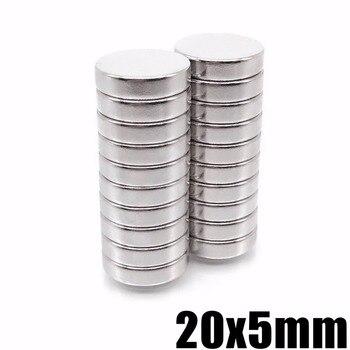100pcs 20*5 20mm x 5mm N35 Super Strong Magnet Rare Earth Disc Ndfeb Neo Permanet Neodymium Magnets20x5