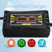 Completamente Automatico Batteria Auto Caricabatteria 110 V/220 V A 12 V 6A Smart Veloce di Alimentazione di Ricarica Auto Moto asciutto bagnato Piombo Acido Display LCD