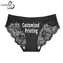 25dc7d59c9f Lanmaocat Women Sexy Seamless Panties Customized Printing Sexy Lace Seamless  Briefs Underwear Beautiful Lace Panty Free
