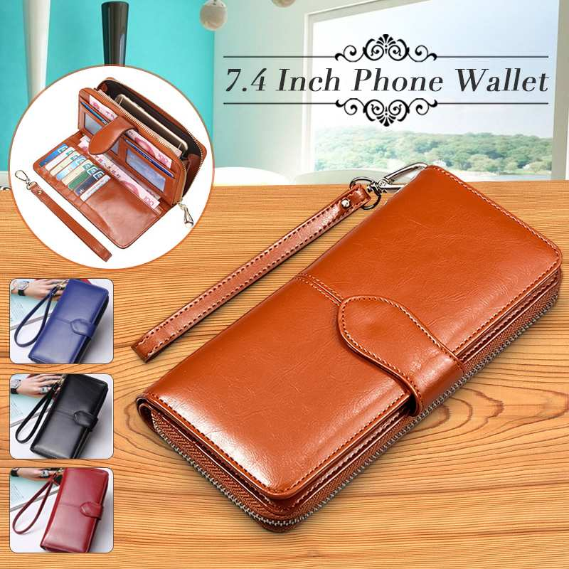 Women's Wallet Women Wallets Made Of Genuine Leather Female Long Wallet For Phone/Cards Holder Money Bags Lady Wallets Purse