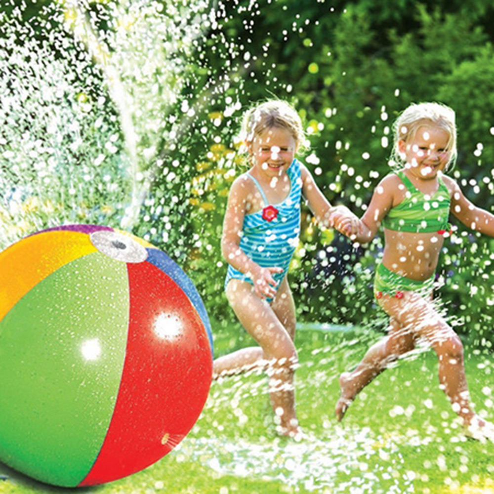 75cm Children Inflatable Sprinkler Water Ball Outdoor Fun Toy For Hot Summer Swimming Party Beach Pool Kids Toys For Fun