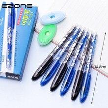 EZONE 5pcs 0.5mm Erasable Pen Black Blue Ink Gel Magic Special Eraser Replace Ink Needle Pen Office School Stationery Supply цена