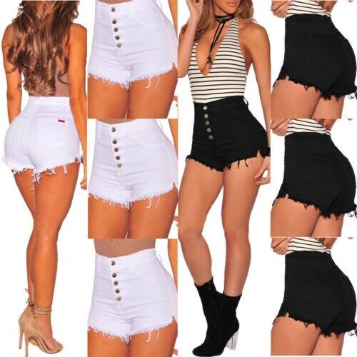 StockSummer Women Girls Student High Waist Skinny Denim Beach Jeans Hot   Short   Casual   Shorts