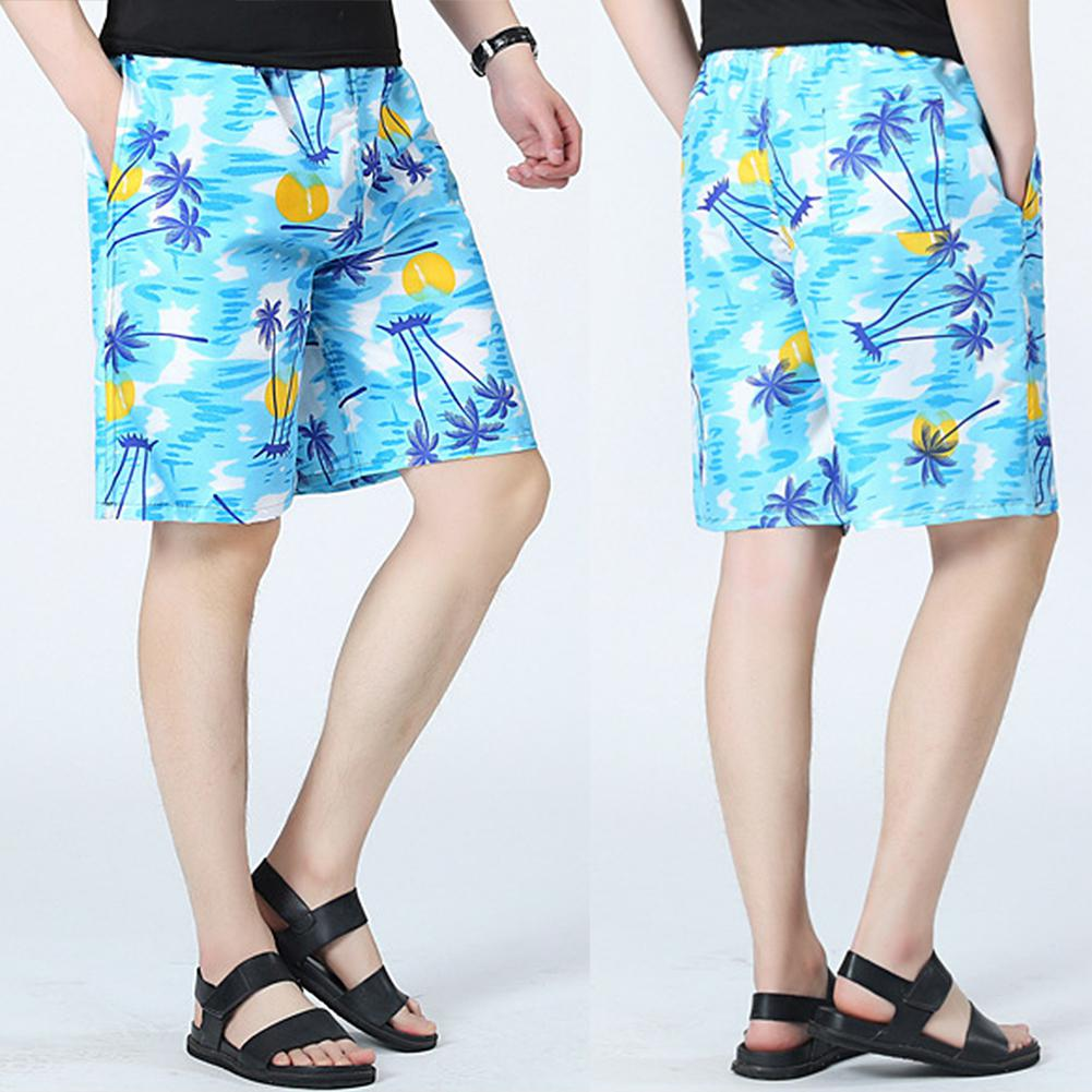 MISSKY Beach Shorts Swimwear Men Swim Shorts Surf Wear Board Shorts Summer Swimsuit Bermuda Beachwear Trunks Short