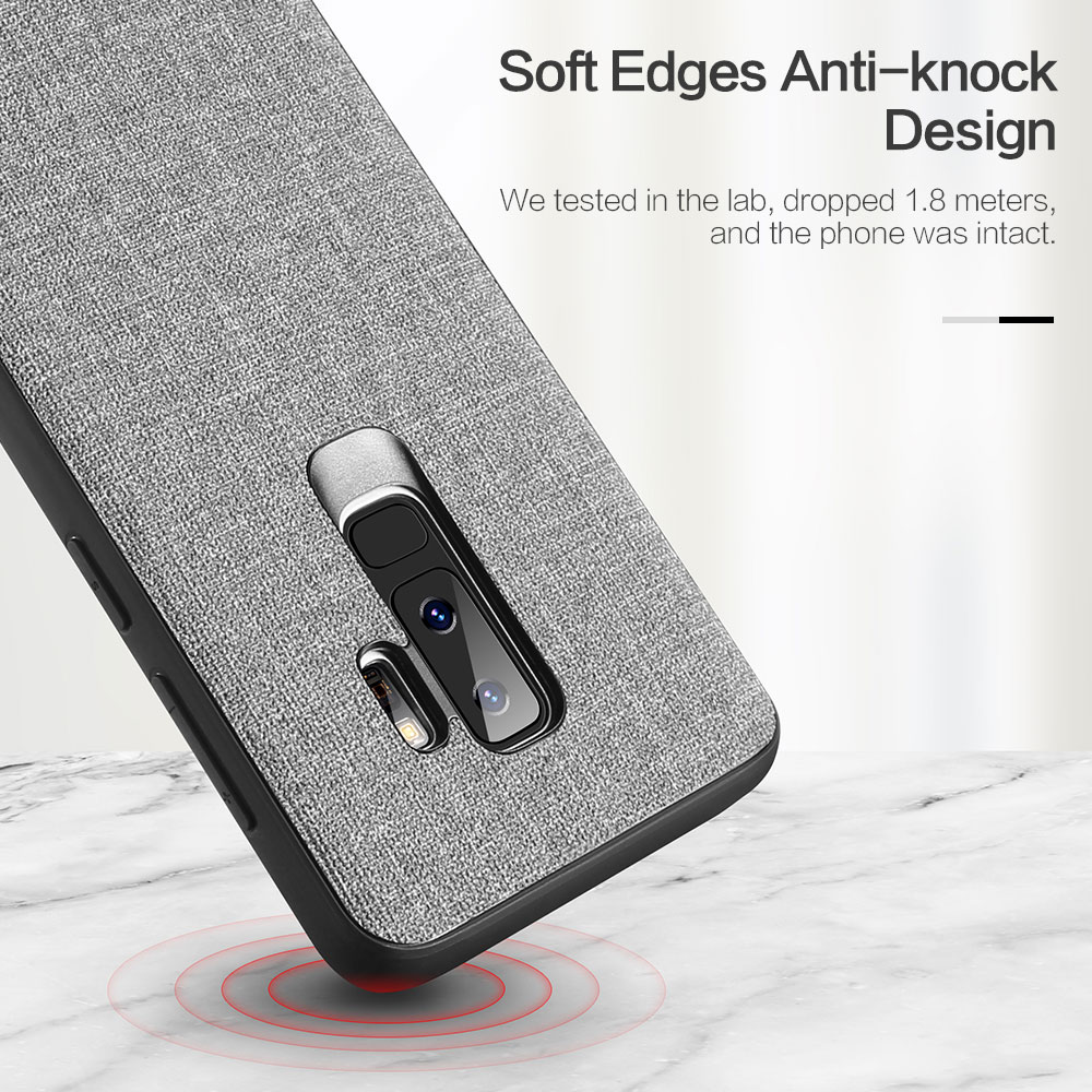 For Xiaomi Pocophone F1 Case Cover KISSCASE Retro Cloth Back Case for Pocophone F1 Redmi Note 5 6 pro 6A MI A2 Lite 8 A1 Fundas in Fitted Cases from Cellphones Telecommunications