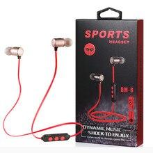 New magnetic sports Bluetooth headset wireless earphone  running binaural stereo