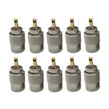 10 sztuk UHF PL259 męskie złącza skrętne RG8 RG58 RF złącze koncentryczne kabel antenowy przejściówka
