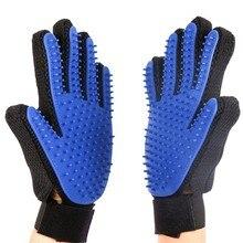 лучшая цена Pet Grooming Glove for Cats Brush Comb Cat Hackle Pet Deshedding Brush Glove for Animal Dog Pet Hair GloveS for Cat Dog HB