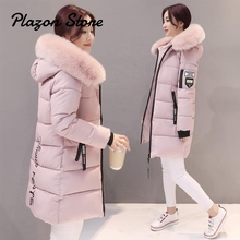 Bubble Coat Parka Women Winter Long Cotton Casual Fur Hooded Jackets Ladies Warm Parkas Female Overcoat