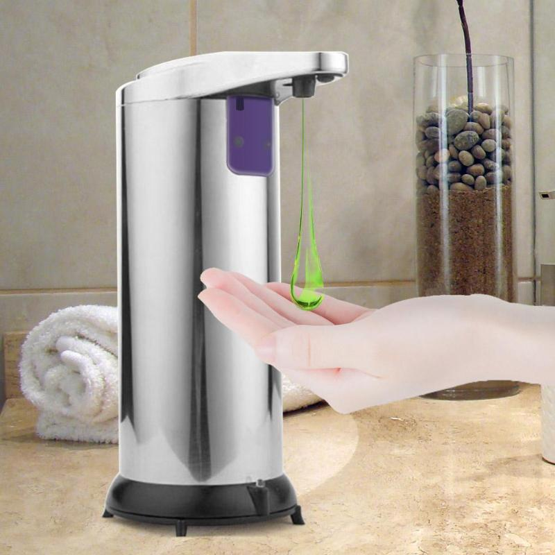 250ML Automatic Liquid Soap Dispenser Touchless Smart Sensor Soap Container Dispenser For Bathroom Automatic Soap Dispenser