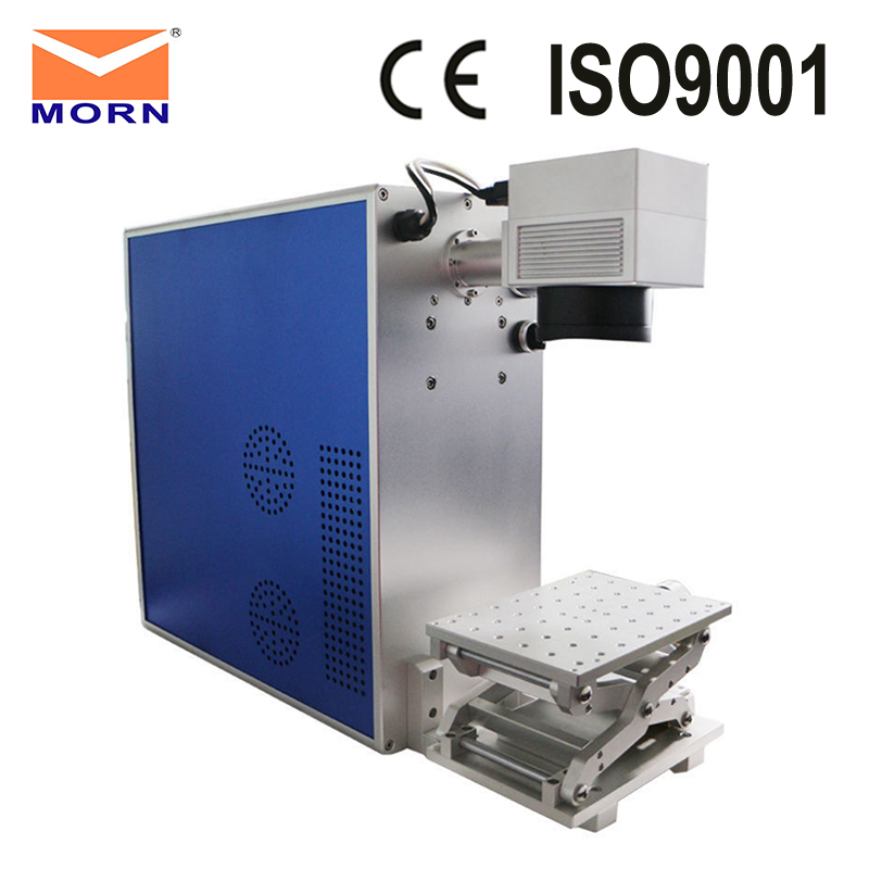 MORN Metal Engraving Optical Fiber Laser Marking Machine 20W With Rotary Axis Professional For Ring's Marking