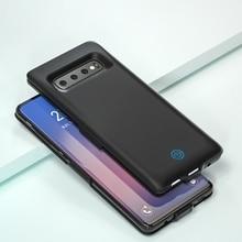 7000 мА-ч для samsung Galaxy S10 плюс Батарея Зарядное устройство чехол внешний Портативный резервного копирования Мощность банк Батарея чехол для samsung S10 S10E
