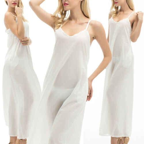 2019 été femmes Boho vacances à bretelles blanc Maxi plage robe d'été fête longue robe tenue décontractée