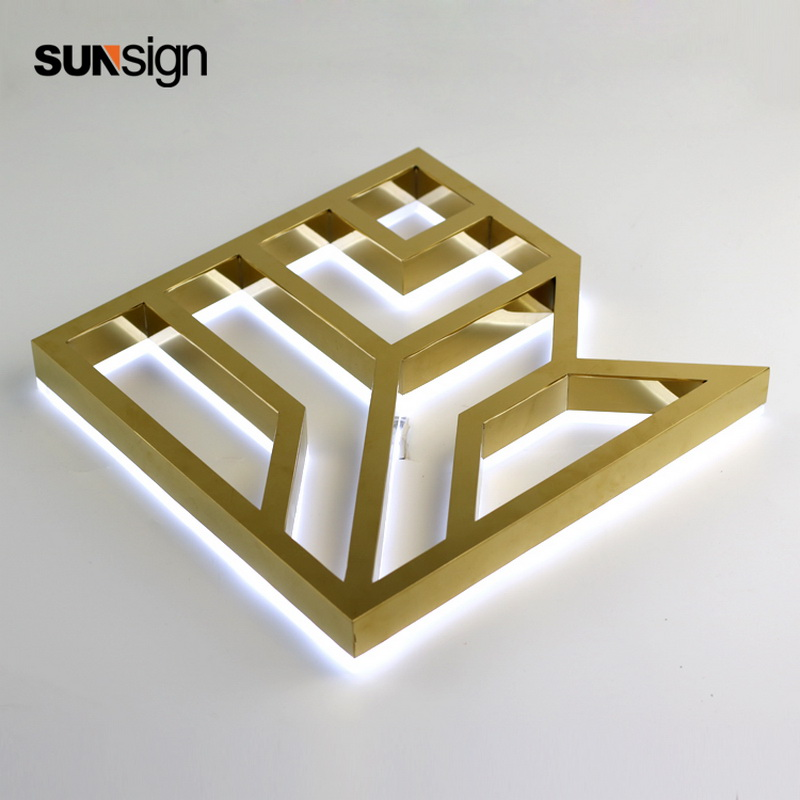 Stainless Steel Acrylic Sign Led Backlit Channel Illuminated 3D Letter