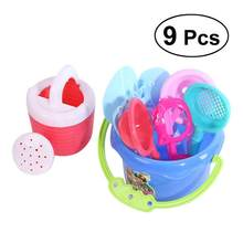 9pcs Beach Sand Toy Plastic Bathing Playing Beach Game Funny Sandbox Toys for Toddler Kids Children(China)