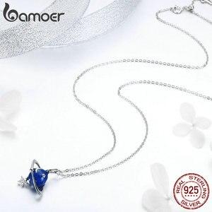 Image 4 - Bamoer Hot Verkoop 100% 925 Sterling Silver Secret Planet Moon Star Kettingen Hangers Voor Vrouwen Sterling Zilveren Sieraden BSN007