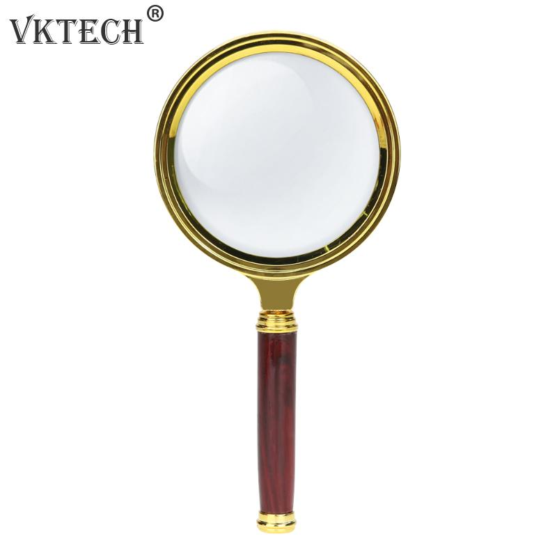 60mm 10X Magnifying Glass Portable Handheld Magnifier For Jewelry Newspaper Book Reading High Definition Eye Loupe Glass