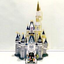 D07001 совместимые блоки 71040 Золушка Кастильо Дисней замок 4080 шт. кирпичи Микки, Дональд Дак блоки Наборы игрушек