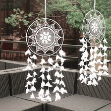 Dream catcher Indian with wind bell feather large white dream wedding props decoration mall ceiling