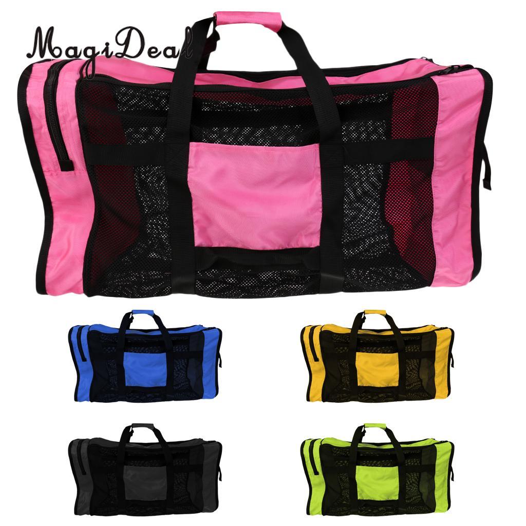 Magideal Foldable Heavy Duty Mesh Dive Bag Duffel Bag Storage Pouch For Diving Scuba Water Sports Dreediving Gear Equipment Office & School Supplies