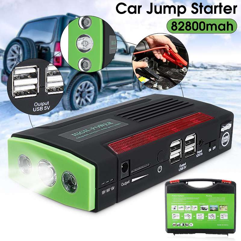 Audew Multi-Function Portable 12V Car Jump Starter 600APeak 82800mAh Battery Booster Power Bank For Car Charger 4 USB Port