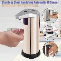 Xueqin 280ml Stainless Steel Sensor Soap Dispenser Automatic Liquid Soap Dispenser Pump Shower Kitchen Soap Bottle For Bathroom
