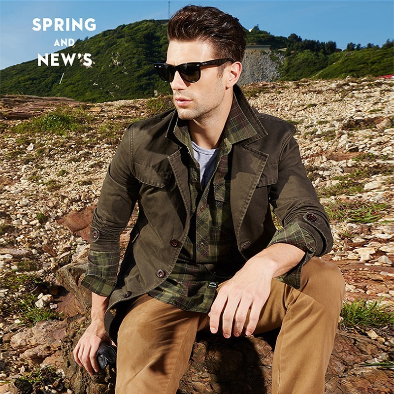 Men s Spring Autumn Business Casual Long Cotton Trench Coat Jacket Men Winter Brand Classic Iconic Men's Spring Autumn Business Casual Long Cotton Trench Coat Jacket Men Winter Brand Classic Iconic Trench Breasted Overcoat Men