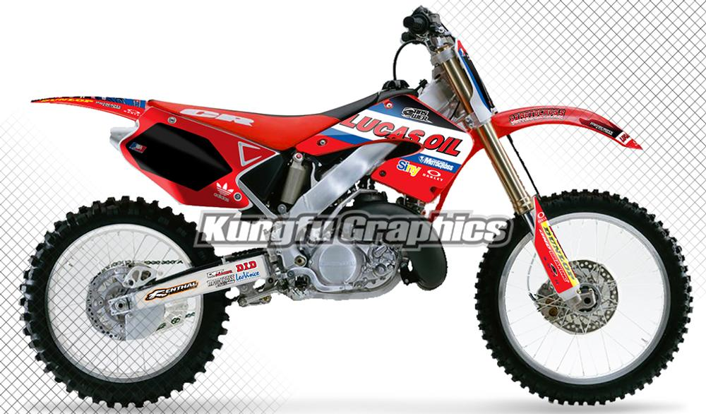 KUNGFU GRAPHICS Motorcycle Decals Motocross Stickers Vinyl Kit Full Wrap Fit Honda CR 125 250 CR125