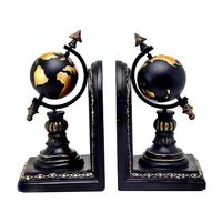 Set Of 2 Globe Bookends Armillary Books Holder Vintage Style For Home And Office Decoration Desk Bookends