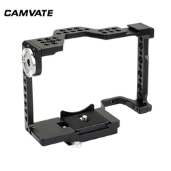 CAMVATE Full Camera Cage With Quick Release Attachment & RRI Rosette For  a7 II, a7R II, a7S II, a7 III, a9 Series  C1996