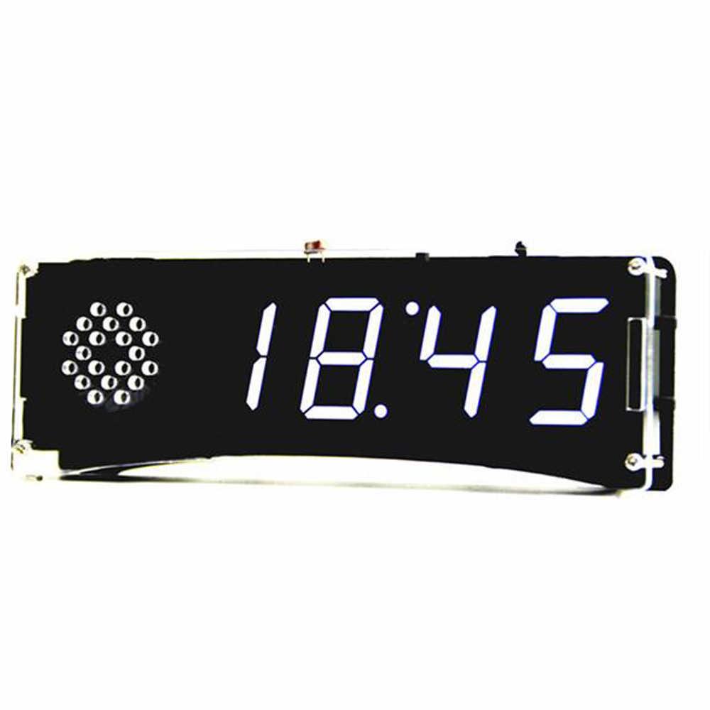 Digital Watch Electronic Clock Kit Single Chip Transparent