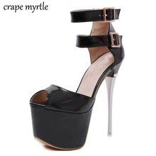 ankle heels sandals summer High Heel Sandals Ladies Shoes Sexy wedding sandals Platform High Heels women sandals pumps YMA767 women platform sandals ladies high heels pumps fashion black shoes slip on summer sandals sexy stage shoes