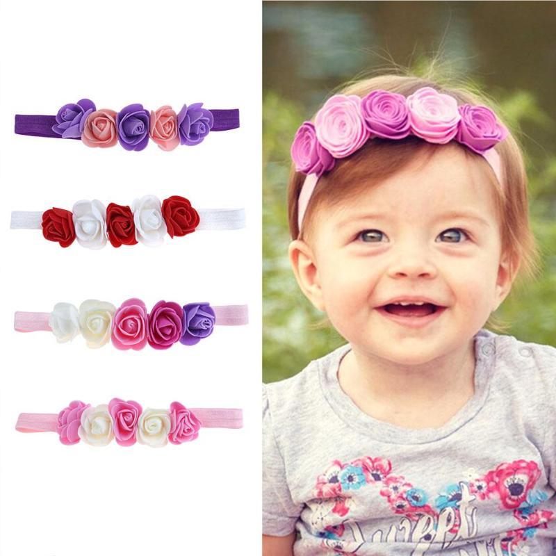 Lovely Baby Headband Girl Elastic Hairband Chiffon Flower Newborn Baby Girl Headband Baby Hair HoopFor Kids Hair Accessories