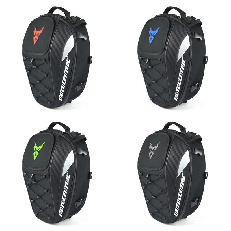 Imperméable à l'eau moto queue sac réfléchissant Durable épaissi Oxford tissu arrière moto siège sac haute capacité cavalier sac à dos