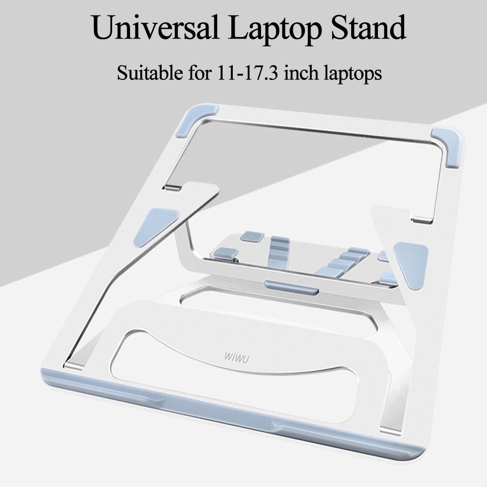 WIWU Universal Laptop Stand Aluminum Lapdesks for MacBook Air Pro 11 15 inch Adjustable Cooling Support Notebook PC Tablet Stand in Laptop Stand from Automobiles Motorcycles