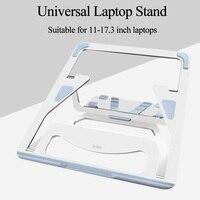 Wiwu universal portátil suporte de alumínio lapdesks para macbook ar pro 11-15 polegada ajustável suporte de refrigeração notebook pc tablet suporte