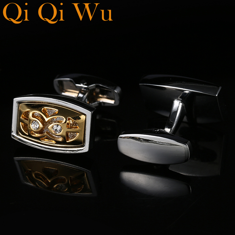 New shirt cuff men groomsmen gifts cufflinks Fashion luxury links Mens buttons High Quality Free Shipping Qi Wu