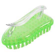 Промо-акция! Пластиковая противоскользящая ручка для одежды обувь для ковра Очищающая щетка, зеленая