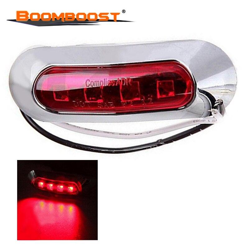 Us 373 3 Kolory 1 Sztuk Ciężarówka 4 światła Led Boczne Lampa Obrysowa Tylna 10 30 V Zewnętrzne Oświetlenie Samochodu Bus Przyczepa Ciężarówka