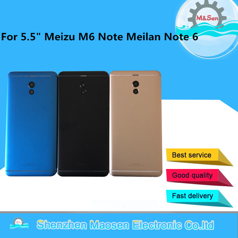 Original M&Sen For 5.5 Meizu M6 Note meilan note 6 Back battery cover case+side keys+glass lens with toolsOriginal M&Sen For 5.5 Meizu M6 Note meilan note 6 Back battery cover case+side keys+glass lens with tools